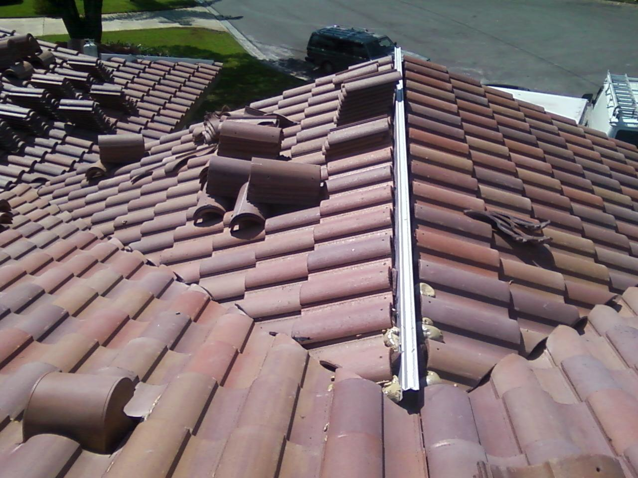 Tile Roof Work - Under Construction
